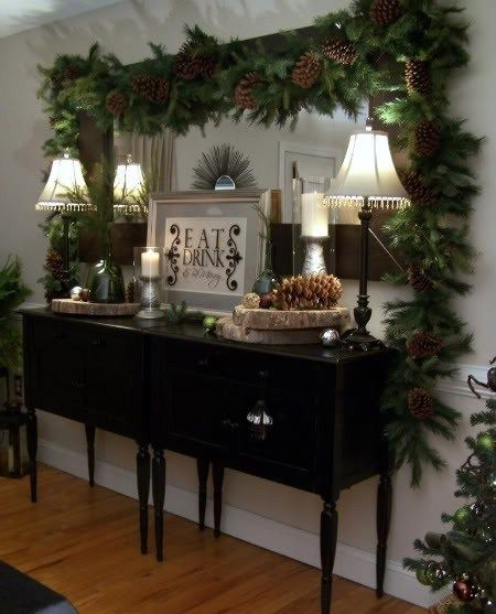 Elegant And Neutral Christmas Foyer: Rustic Christmas, Christmas