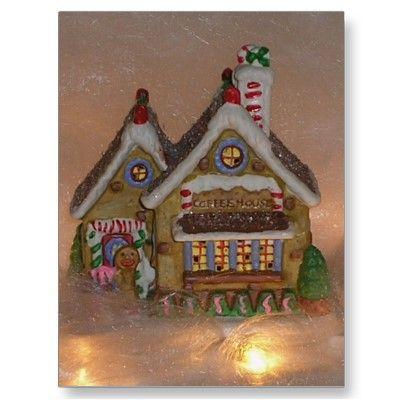 Thank yoiu Lisa of Surprise, AZ USA for getting Gingerbread House Porcelain Postcards! :)