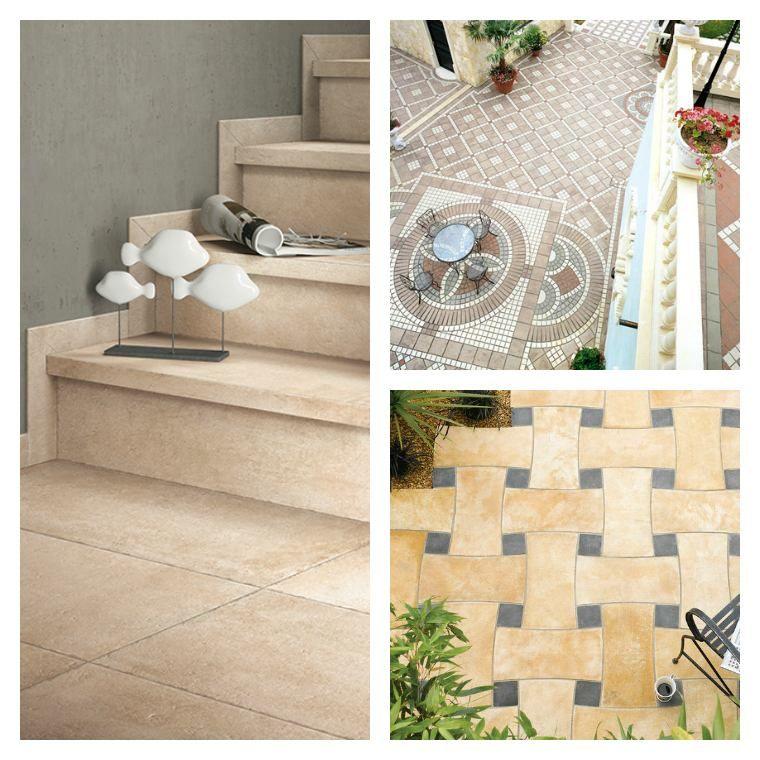 carrelage extérieur : idée de revêtement de sol | Coffee table with wheels, Green pillows, Low ...