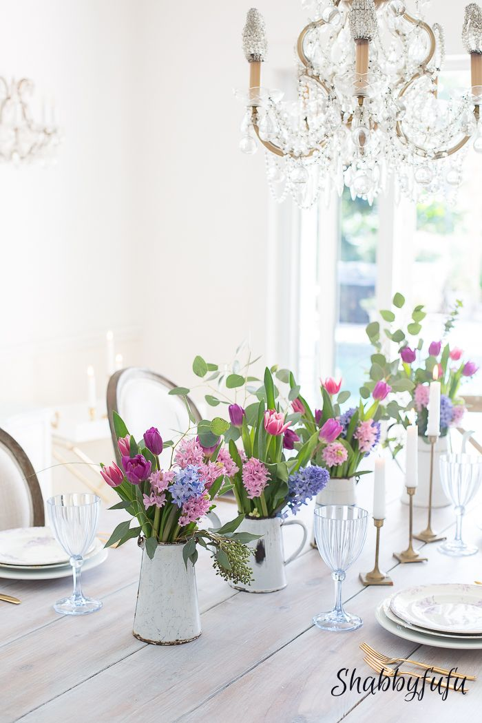 How to Achieve A Spring Look In A White Room Arreglos florales