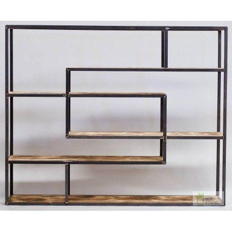 a symetrische metalen industriele kast gebruikt metaal en hout kast kasten boekenkasten boekenkast industrieel