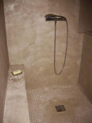 douche à l\'italienne mosaique | Douche à l\'italienne, banc ...