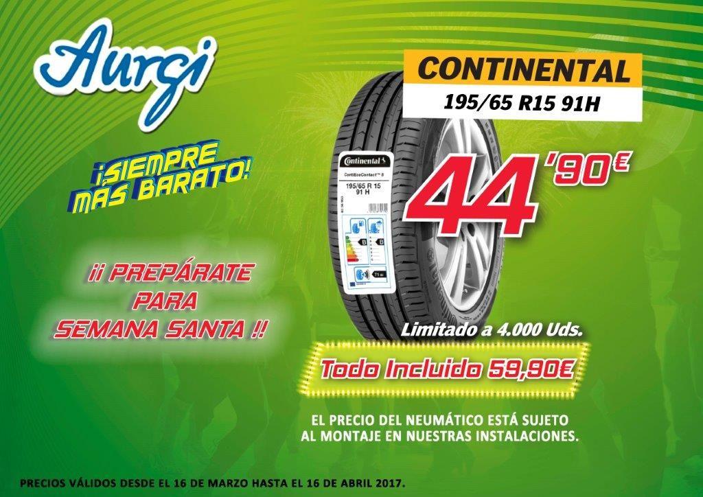 Oferta Neumaticos Baratos Continental 195 65 R15 En Aurgi Campana