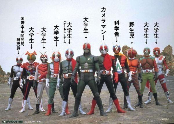 muckey on twitter japanese superheroes kamen rider parody