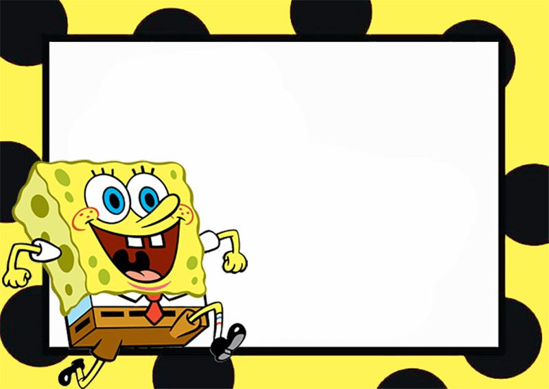 Printable Spongebob Invitation Coolest Invitation Templates In