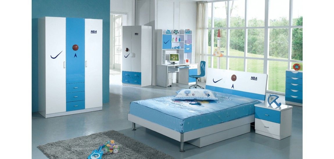 Modern Kids Basketball Bedroom Set with Twin or Full ...