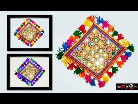 How To Create Sack Wall Hanging Art And Craft Ideas Art Diy