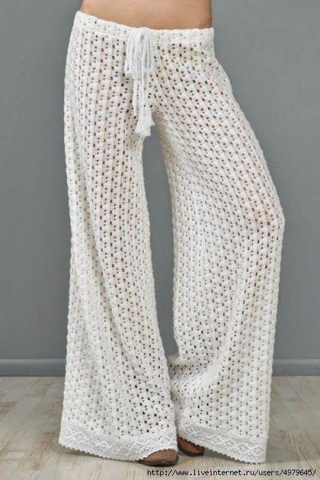 Pantalón a Crochet | poleras | Pinterest | Tejido, Ganchillo y Ropa
