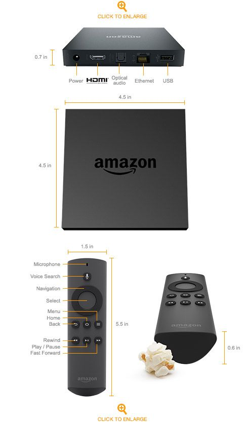 Amazon Fire TV is a tiny box you connect to your HDTV. It's the easiest way to enjoy over 250,000 TV episodes and movies on Netflix, Amazon Instant Video, and HBO NOW, plus games, music, and more. BUY IT HERE: http://amzn.to/2g8QyrS