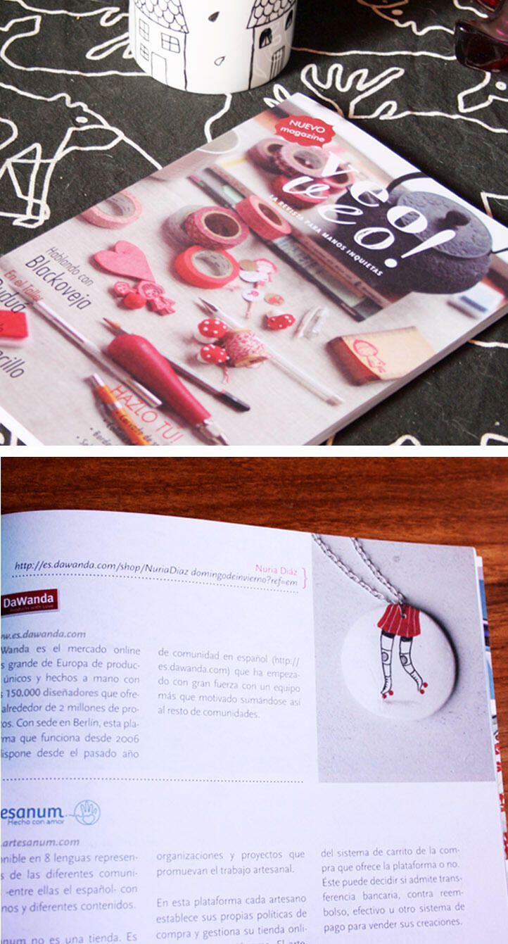 Twitter / Nu_diaz: Uno de mis colgantes ilustrados ... #veoveomagazine #revista #magazine #handmade