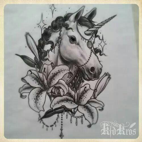 Pin By Emily R On Tattoo Unicorn Tattoo Designs Horse Tattoo Animal Tattoos