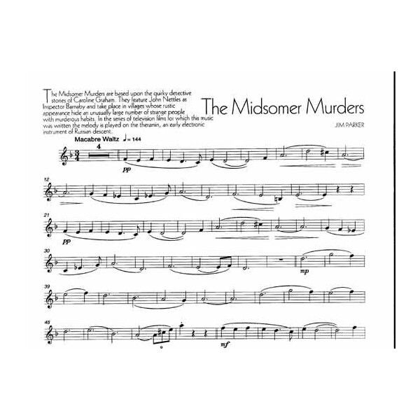 Midsomer Murders theme Violin Pinterest Midsomer murders and - music paper template