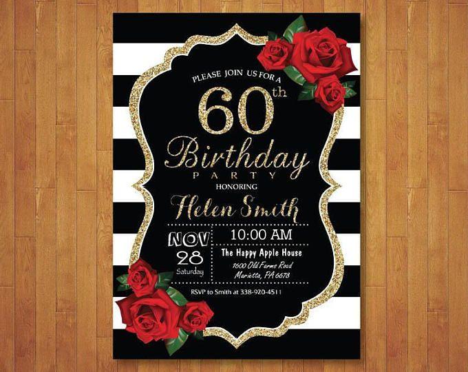 Pin En 60 Birthday