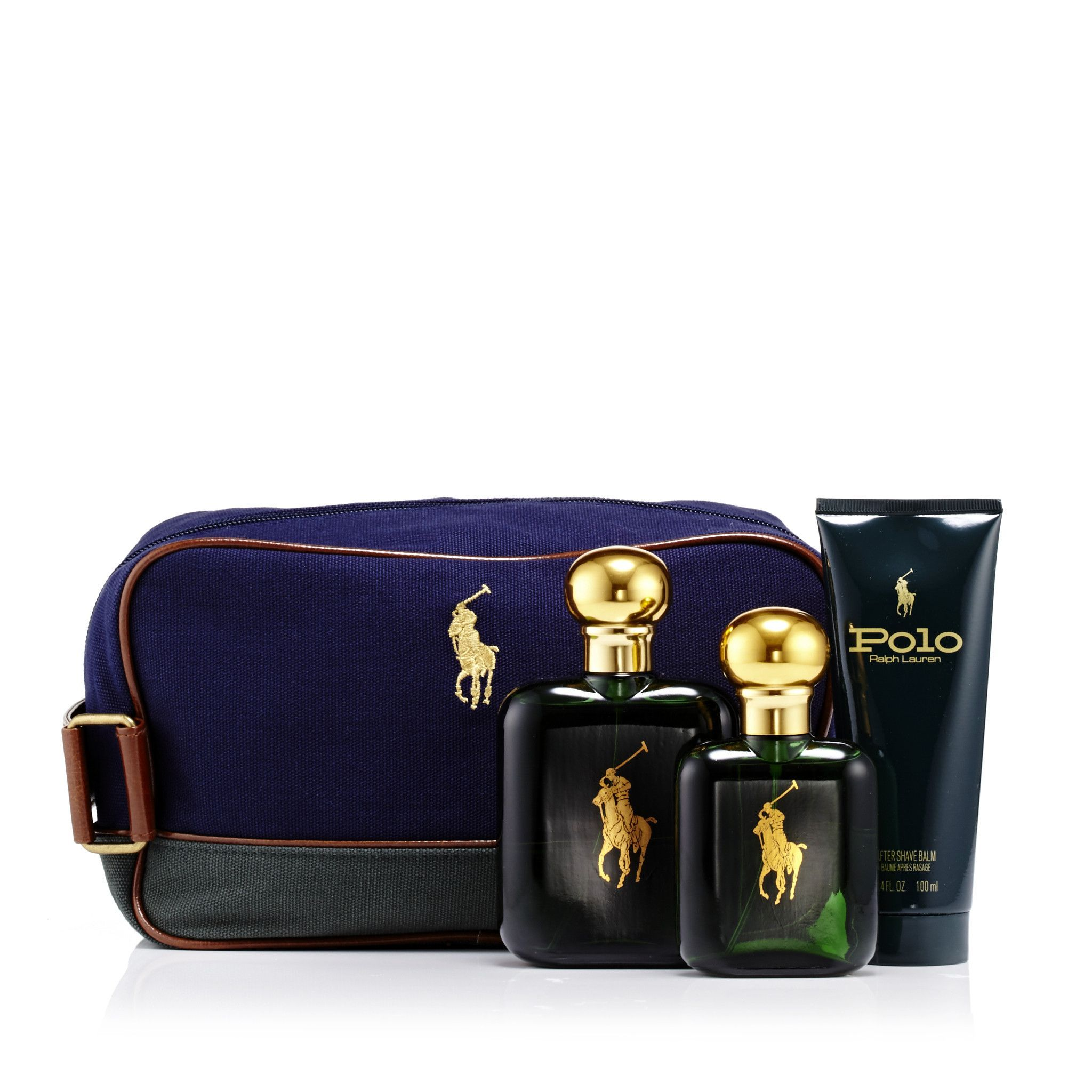 68492715cd74 Polo Green Gift Set and Dopp Kit Bag for Men by Ralph Lauren