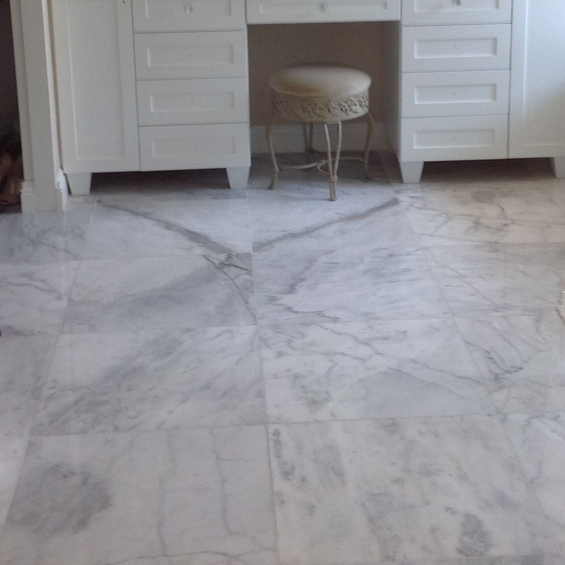 Bianco Ibiza 24x24 Honed Marble Tile. Travertine Market