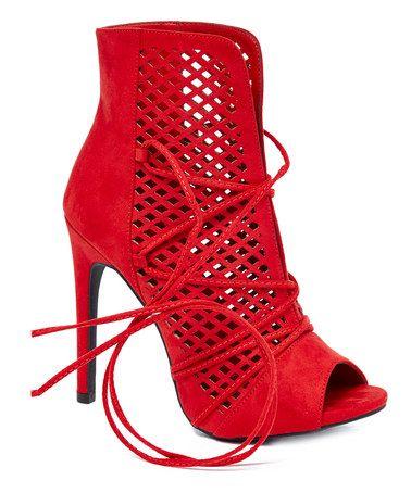 Look at this #zulilyfind! Red Evelyn Boot #zulilyfinds