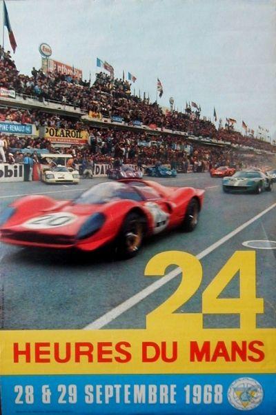 1961 Le Mans 24 Hour Race Poster A3//A4 Print