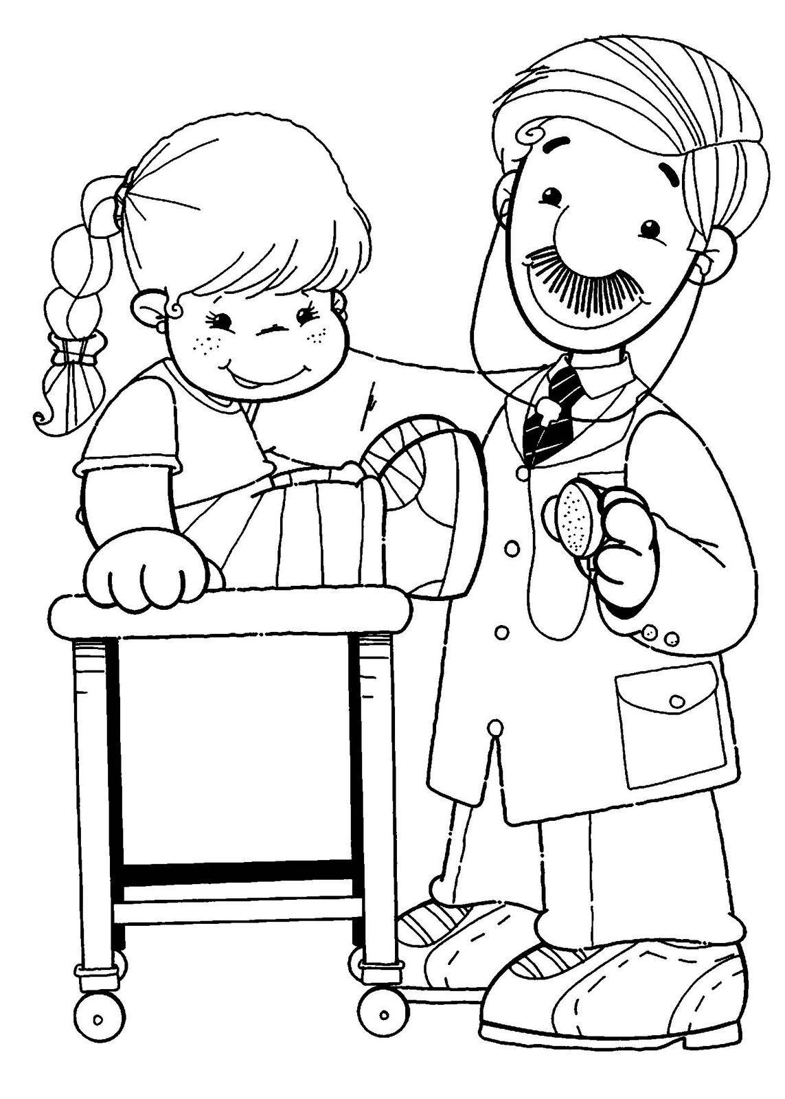 Recursos Y Actividades Para Educacion Infantil Dibujos De Los Derechos De Los Ninos Deberes De Los Ninos Derechos De Los Ninos Doctor Para Colorear