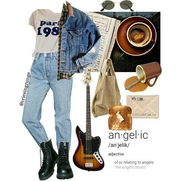#grunge #outfit #urban #rock #punk #alternative - Pinspace #grungeoutfits