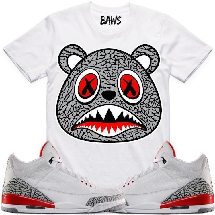 54ed9ac6dd8 Elephant Baws Sneaker Tees Shirt - Jordan Retro 3 Katrina Elephant Baws  Sneaker Tees Shirt -