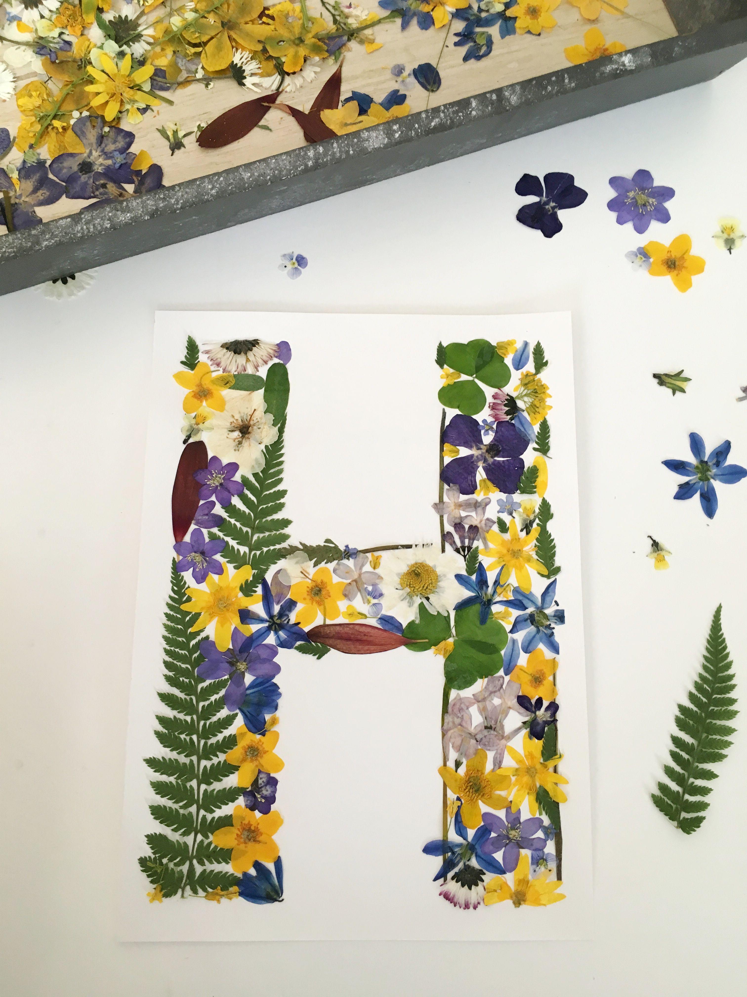 Frame Custom Letters Dried Fl Art