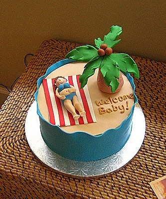 luau baby shower cake by bakingarts via flickr
