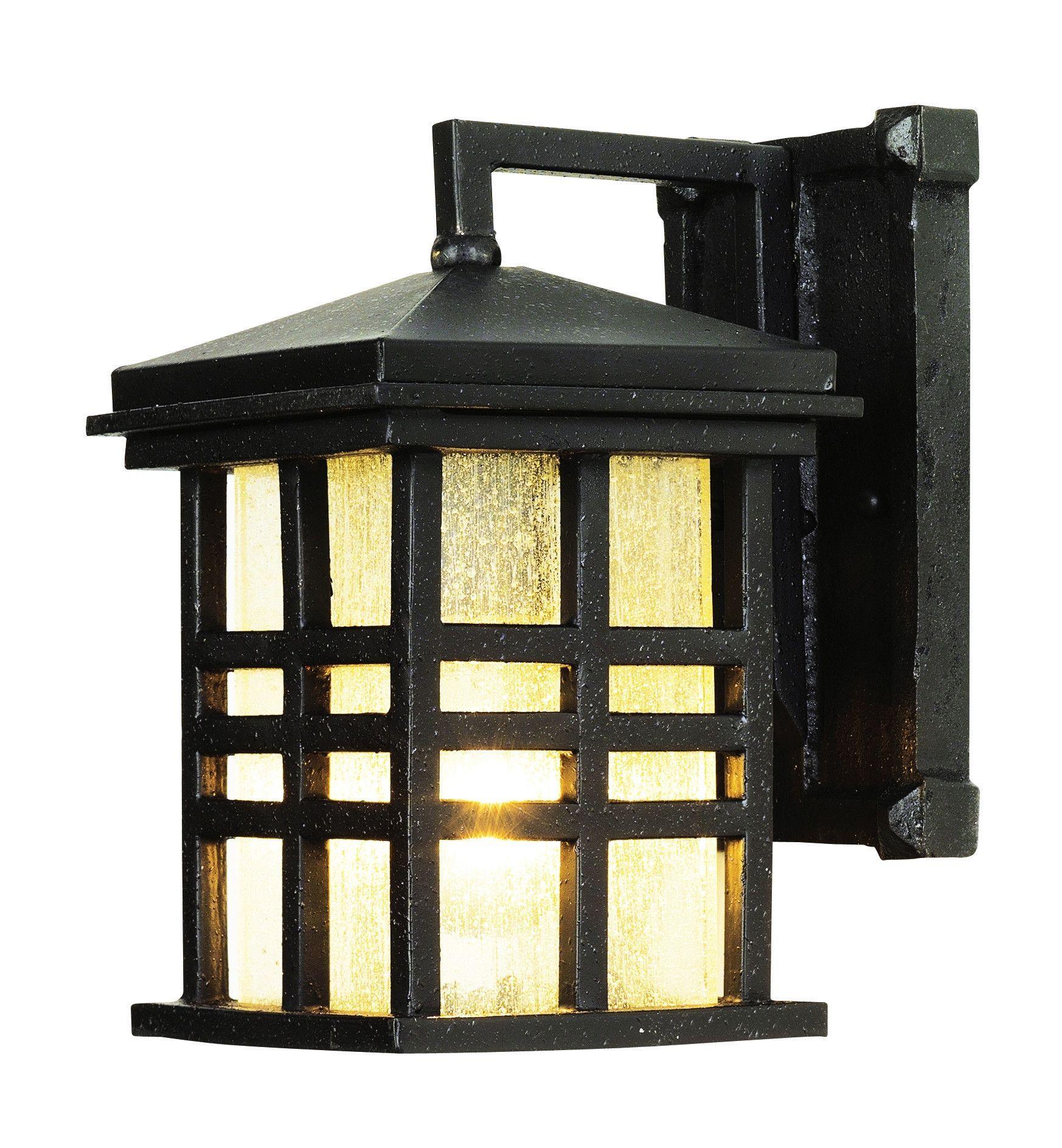 Trans Globe Lighting 4635 Bk Rustic Craftsman Coach Light Black Outdoor Wall Lantern Wall Lantern Outdoor Sconces
