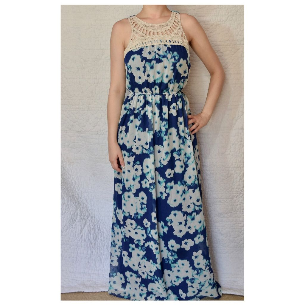 Blue floral maxi dress products