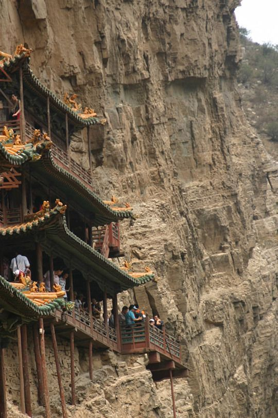 China. The Hanging Temple Monastery of Hengshan, Shanxi province.