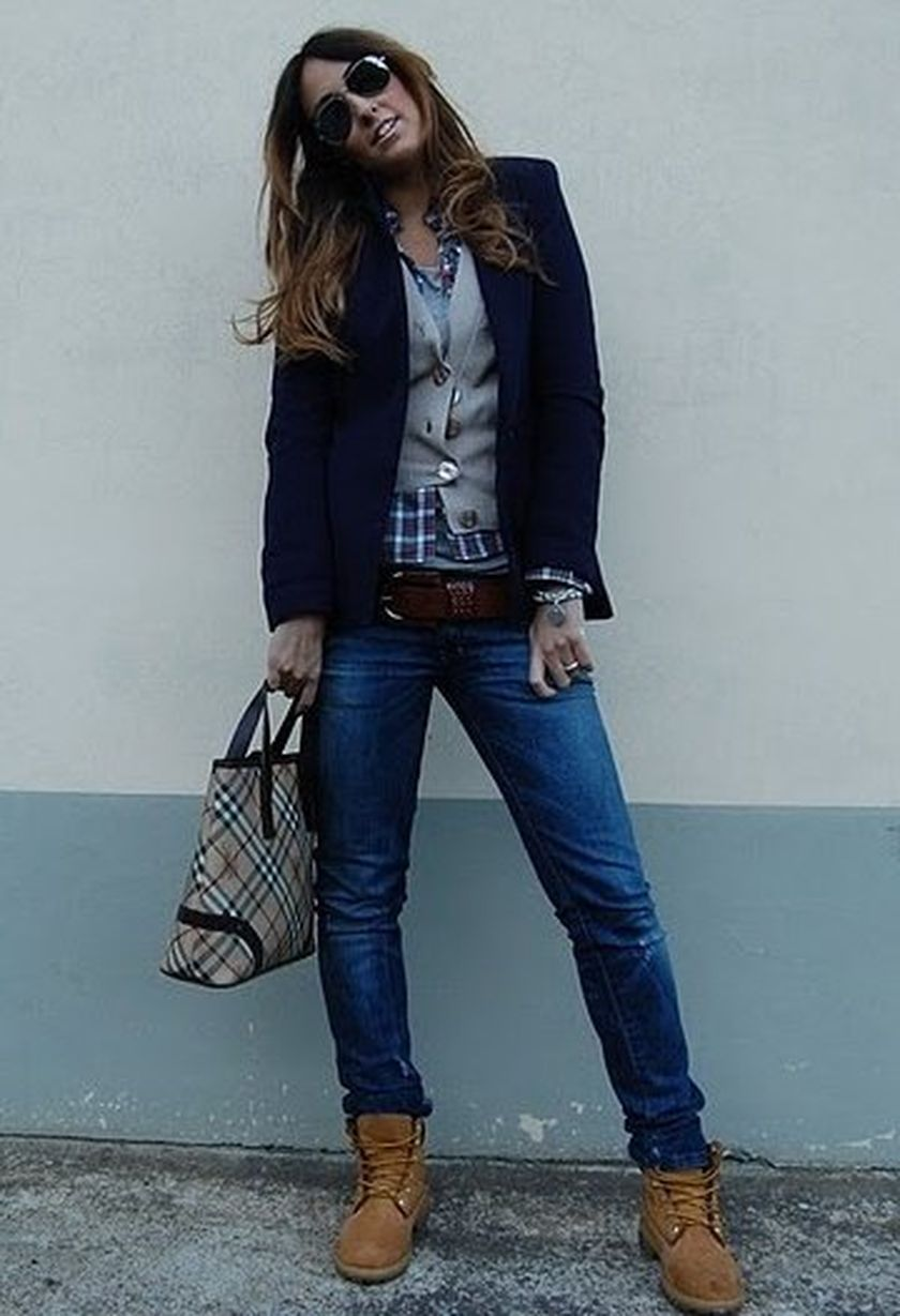 60+ Outfit Idea To Wear Timberland Boots For Girl That You Must Try | Timberland Fall Fashion ...