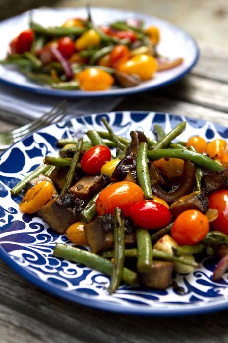 Balsamic Grilled Vegetables Recipe | FamilyFreshCooking.com © MarlaMeridith.com