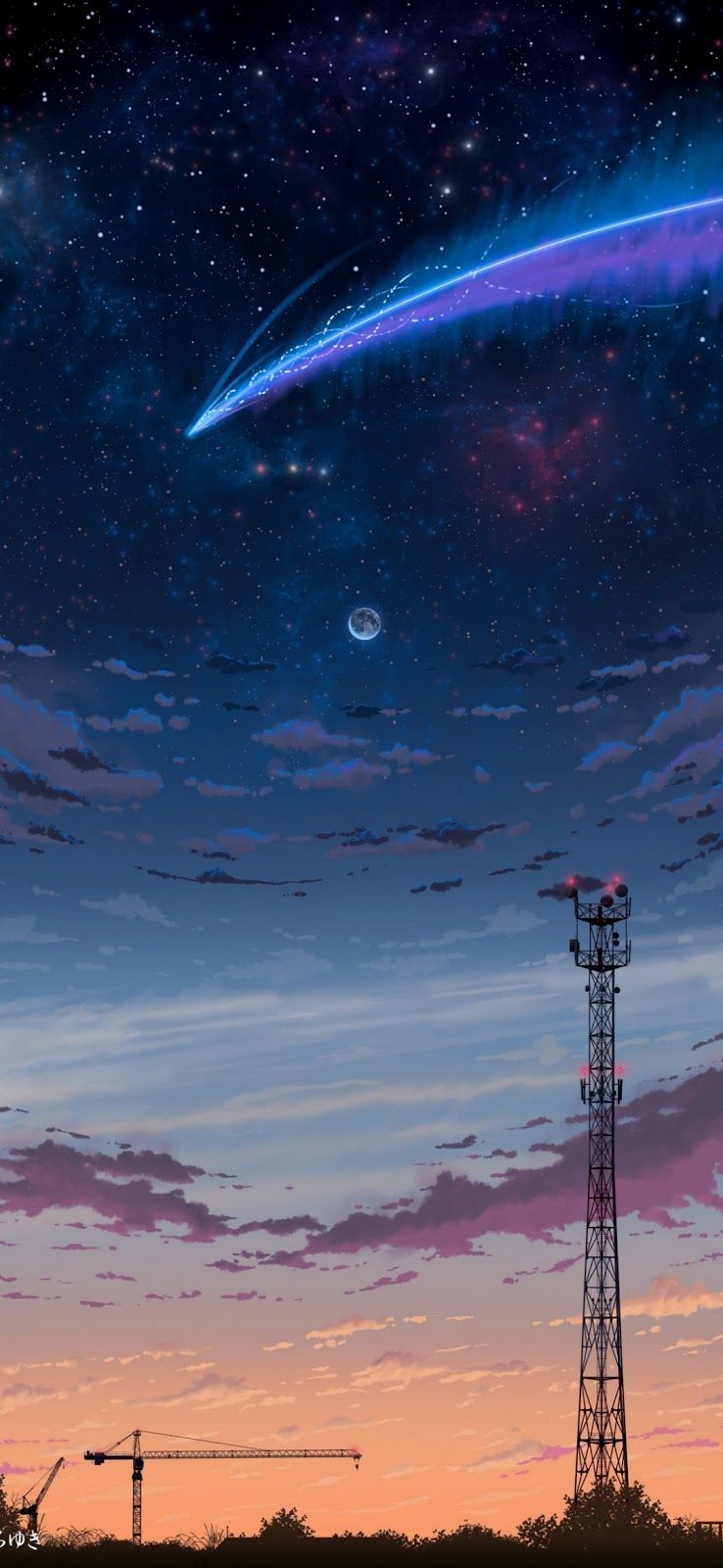 Starfall in the night in 2020 Backgrounds phone