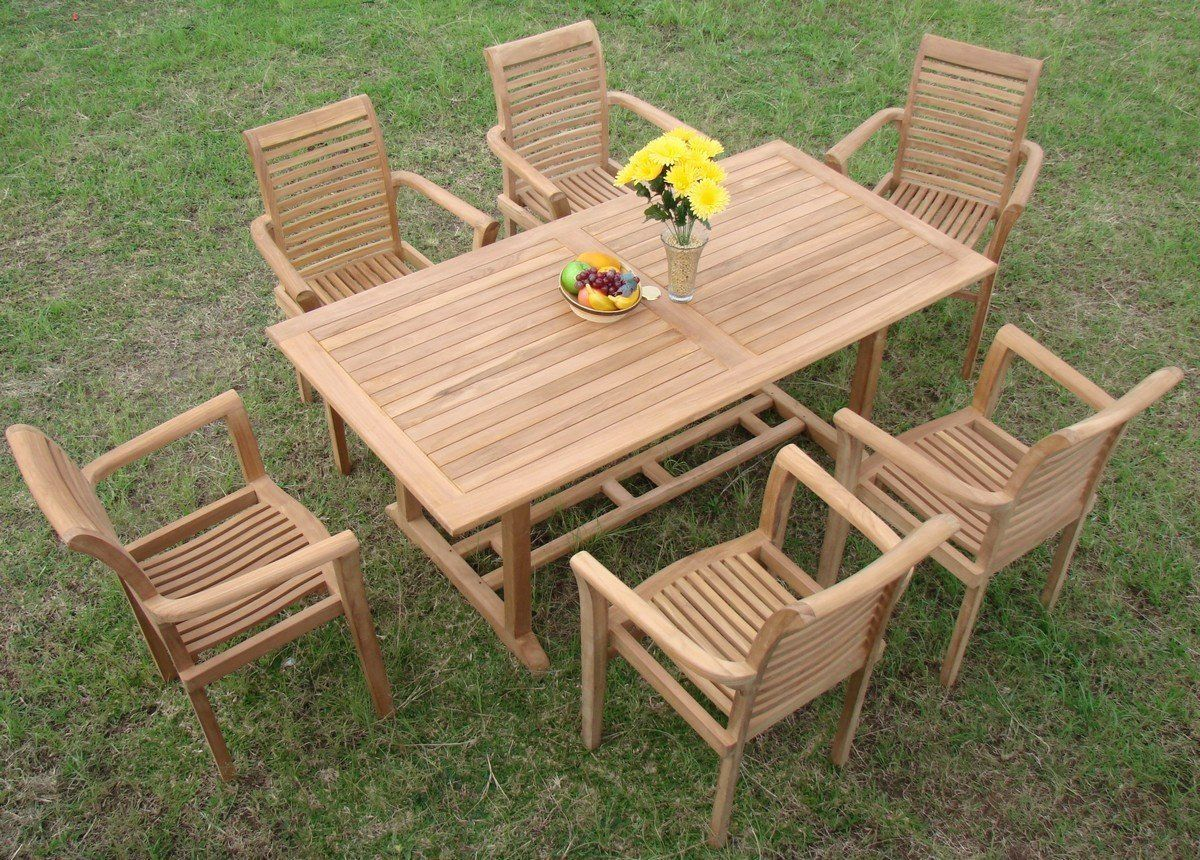 Outdoor Teak Dining Sets New 7 Pc