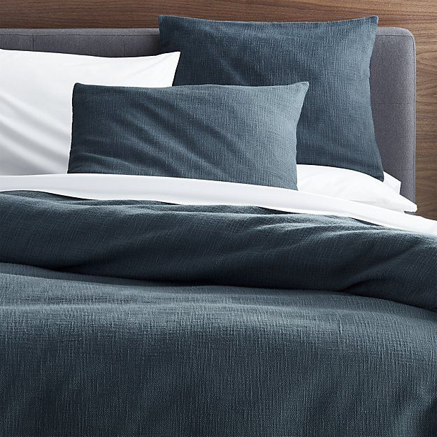 Lindstrom Blue Duvet Covers And Pillow Shams Crate And Barrel Blue Duvet Cover Blue Duvet Gray Duvet Cover