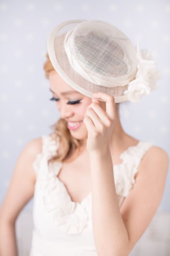 This is cute wedding Boater Hat  515d072e44a