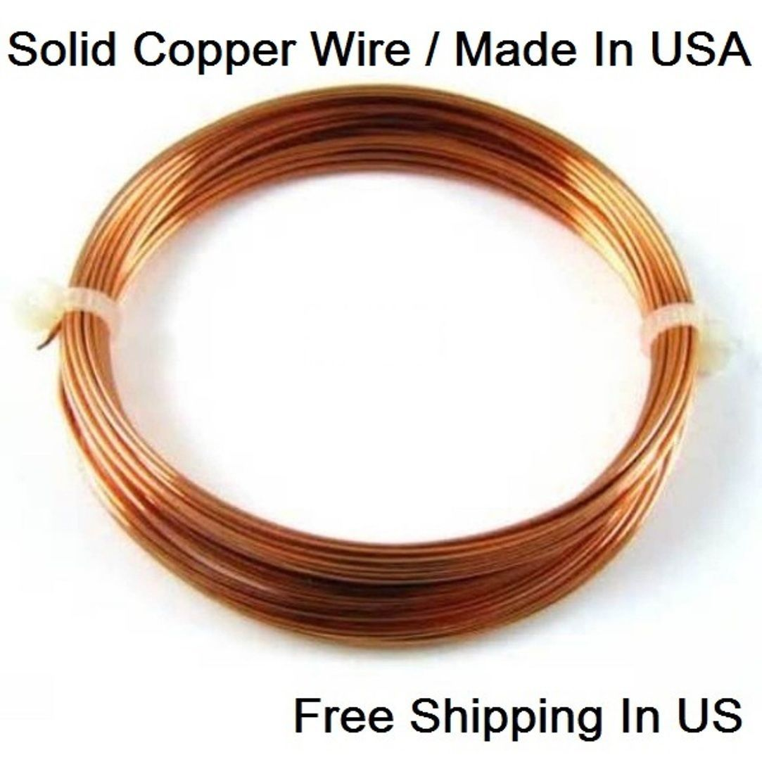Copper Wire 14 Ga Dead Soft 5 OZ 27.5 FT. Coil