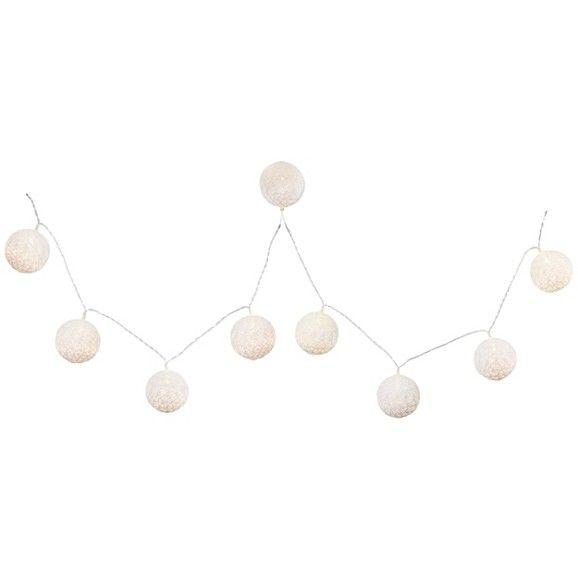 Lichterkette aus Kunststoff in Weiß - für ein gemütliches Ambiente