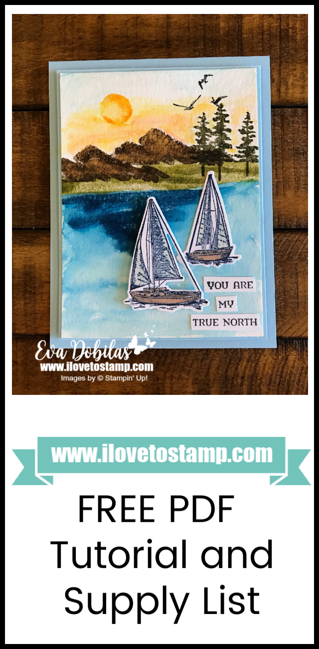 Sailing Home Card for the Ink It! Stamp It! Design Team Blog Hop #onlineclasses