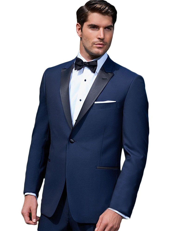 Giorgio Fiorelli Men's Modern Fit Two-Piece Tuxedo Suit Set – Blue –