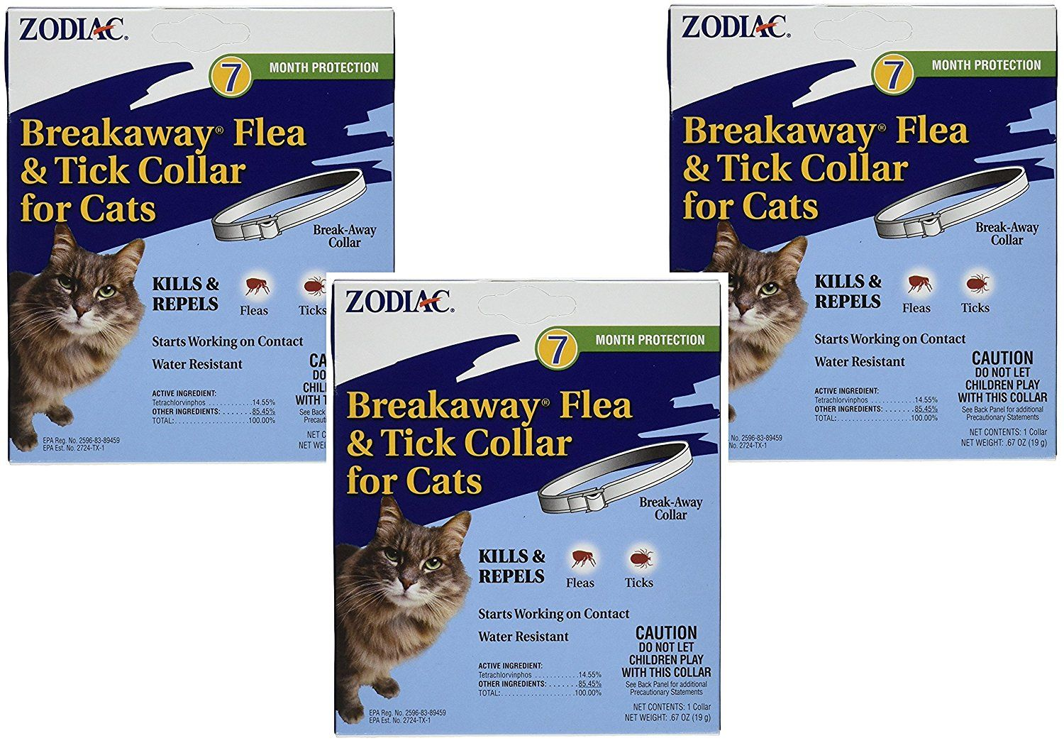 3 Pack Zodiac Breakaway Flea And Tick Collar For Cats 13 Learn More By Visiting The Image Link This Is An Affiliate Link Cat Fleas Flea And Tick Fleas