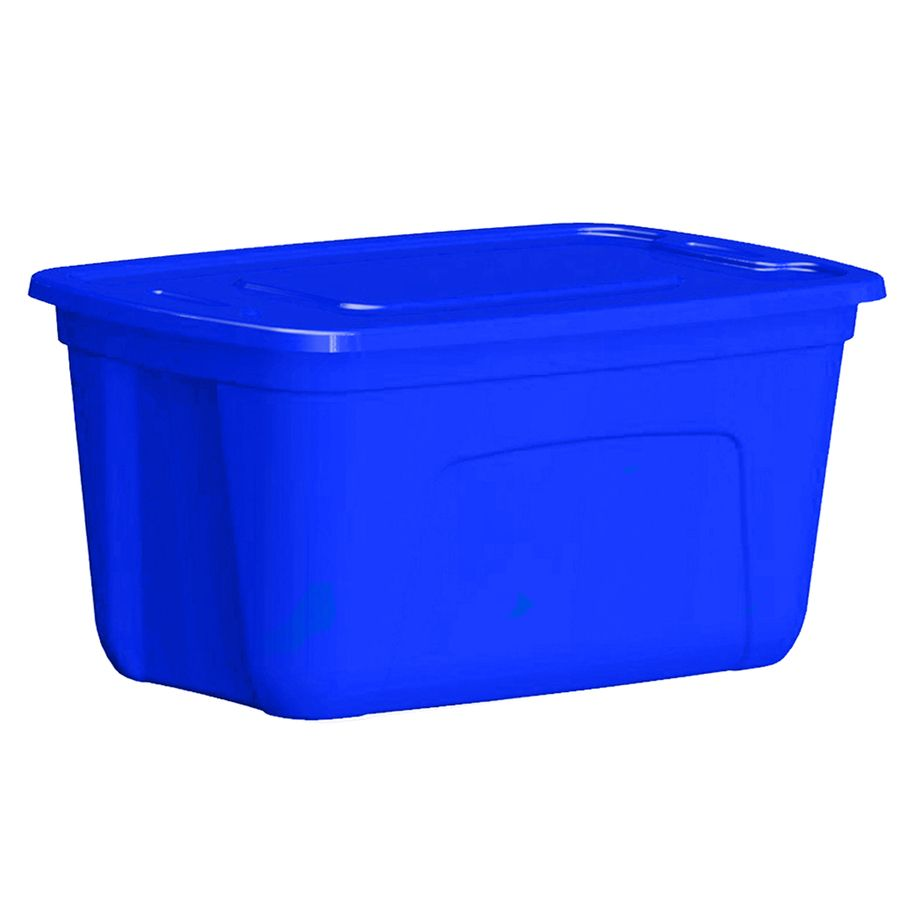 Style Selections 30 Gallon Blue Tote With Standard Snap Lid Blue Tote Beverage Tub Gallon