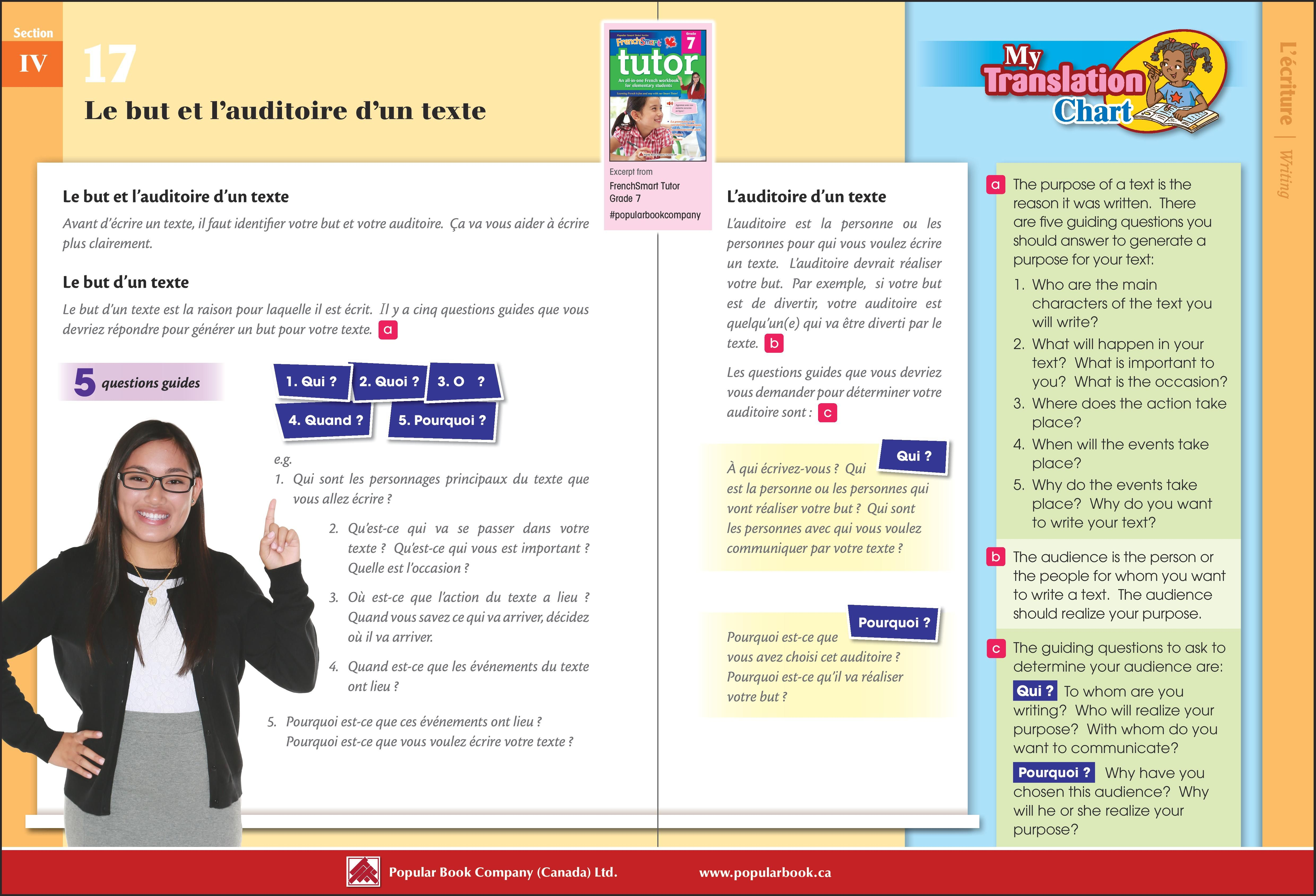 Download the free sample pages from FrenchSmart Tutor Grade 7 workbook.  #PopularBookCompany #Frenc…   Free worksheets for kids [ 3378 x 4961 Pixel ]