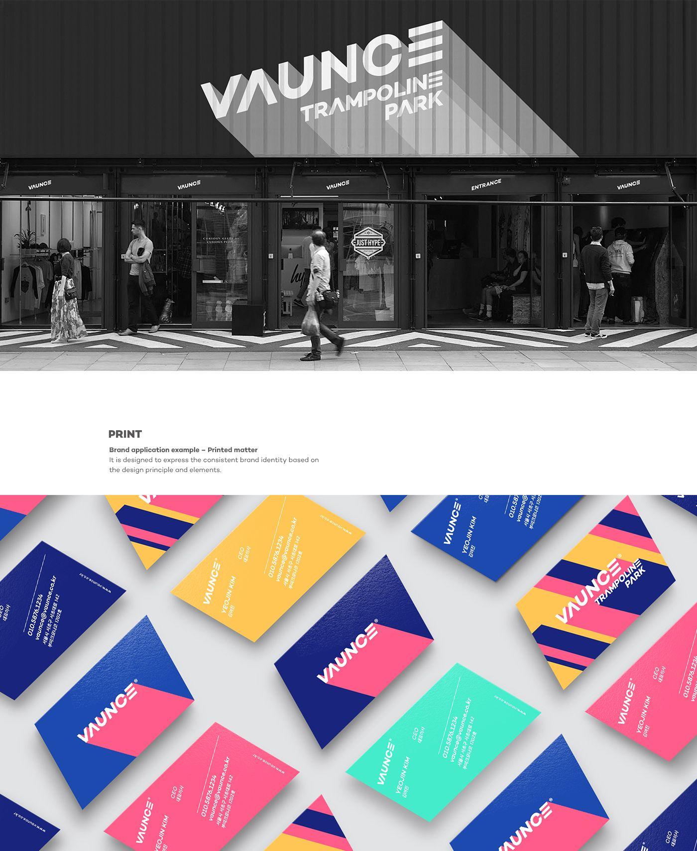 VAUNCE Trampoline Park Brand eXperience Design on Behance