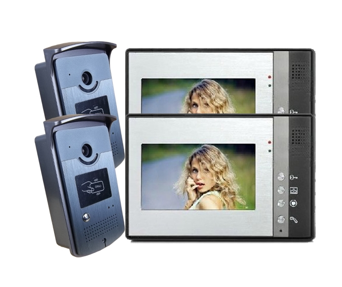 199.00$  Watch now - http://alijy5.worldwells.pw/go.php?t=32724701301 - freeship by DHL 7 Inch video intercom two way doorbell Visual doorbell Intercom System IR Camera doorphone home automation