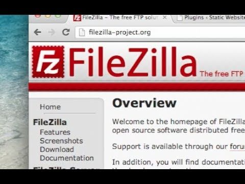 How To Use Filezilla Ftp Client Tutorial Website Hosting Tutorial Being Used