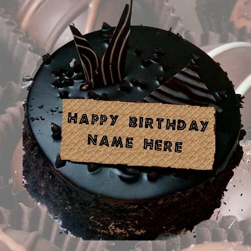 Happy Birthday Cake With Name Edit Online Write On Chocolate