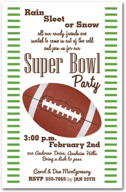 super bowl party invitation – Superbowl Party Invitations