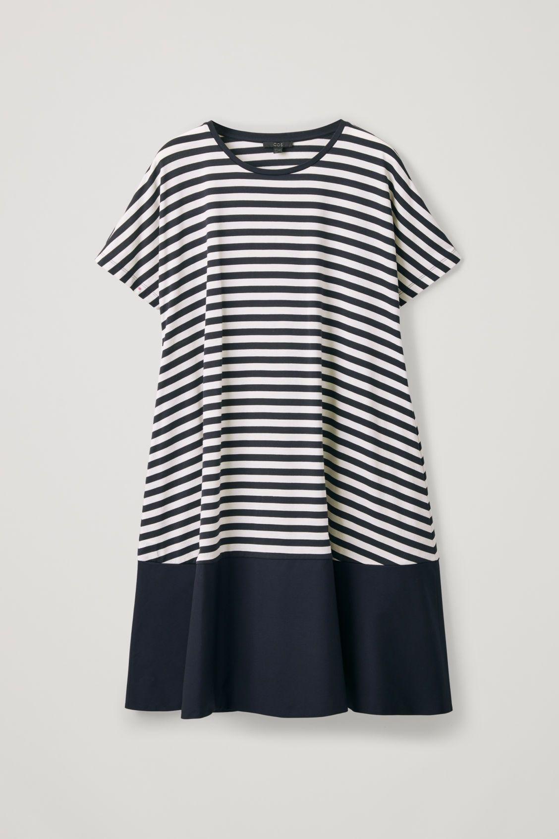 b560176e1325 CONTRAST-PANELLED JERSEY DRESS - Blue - Dresses - COS | COS Spring ...