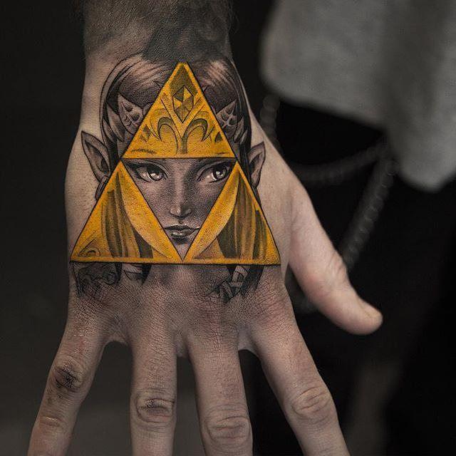 Triforce Tattoo11 Tattoo Ideas Zelda Tattoo Legend Of Zelda Tattoos Hand Tattoos
