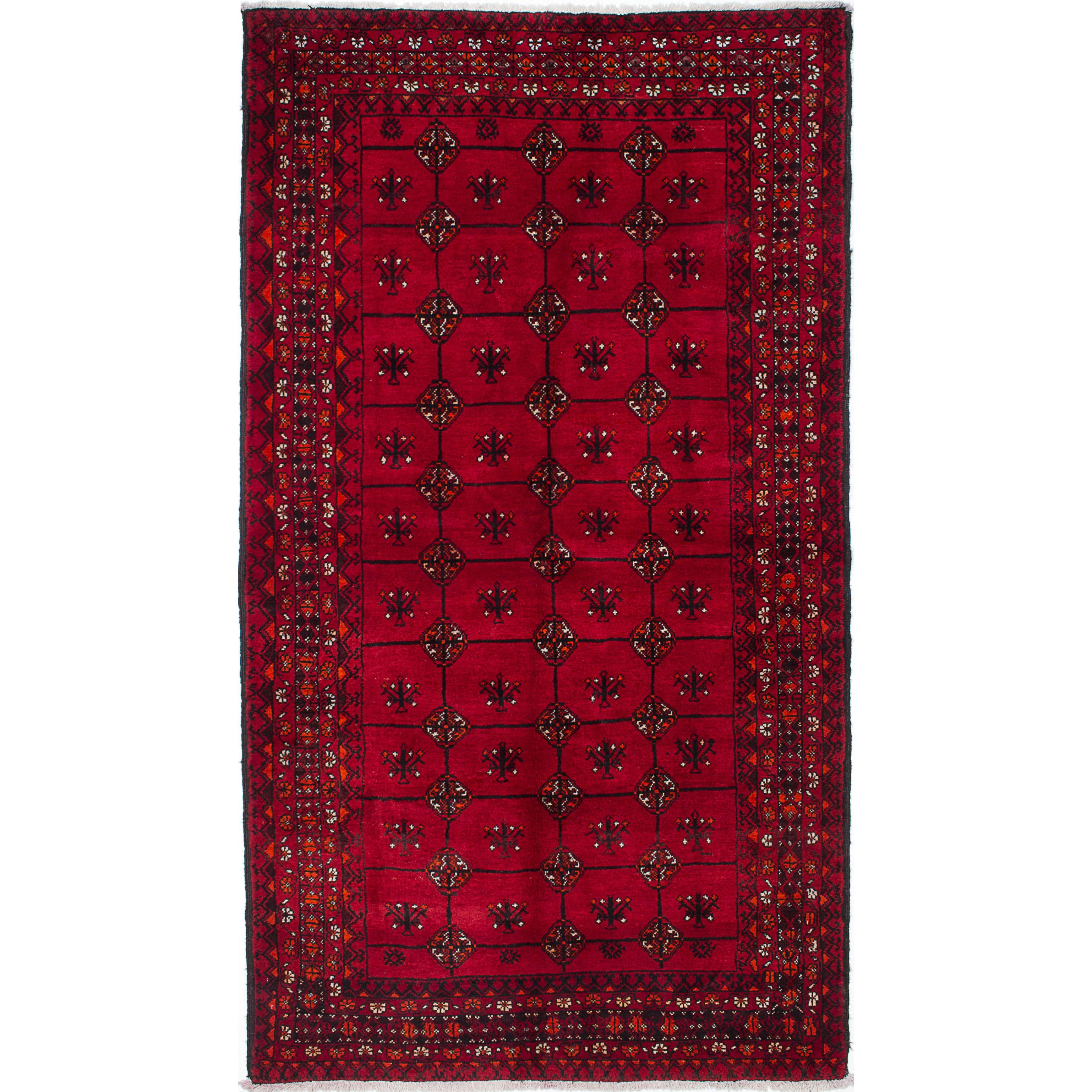 ecarpetgallery Hand-Knotted Finest Baluch Red Wool Rug